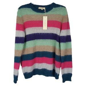 Silvia Novelli Colorblock Mohair Blend Sweater